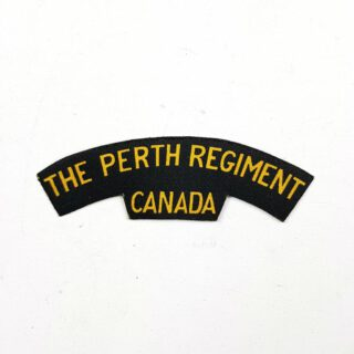 Perth Regiment Printed Shoulder Title