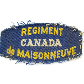 Regiment De Maisonneuve – Printed