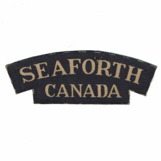 Seaforth Shoulder Flash