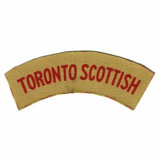 Toronto Scottish Flash