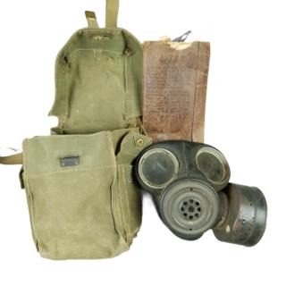 WW2 British Lightweight Gas Mask & Carrier