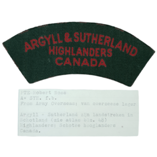 A&SH Printed Shoulder Title