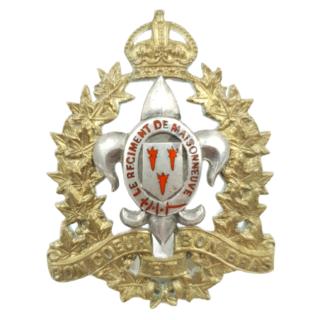 Le Regiment De Maisonneuve – Officier's Cap Badge
