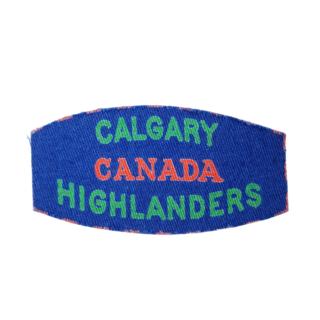 Calgary Highlanders – Printed Shoulder Flash