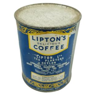 Lipton's Coffee Tin – Full