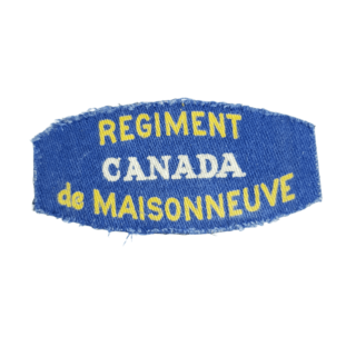 Regiment De Maisonneuve – Printed Shoulder Title