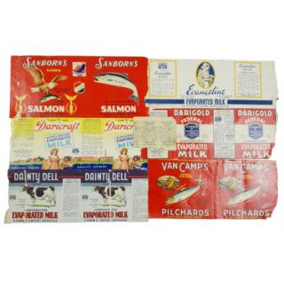 WW2 Tinned Food Labels