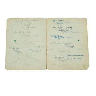 WW2 Notebook With Canadian Soldiers Signatures