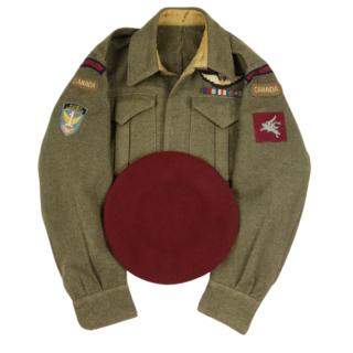 Paratrooper Battledress And Beret – D.E. Jilks '2 Forward Observation Unit'