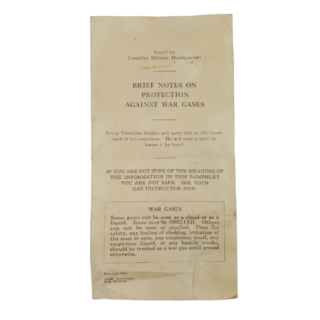 Brief Notes On Protection Against War Gases