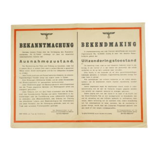 Bekanntmachung / Bekendmaking 1944