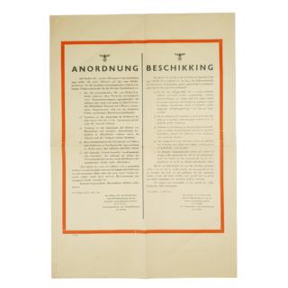 Anordnung/Beschikking April 1943