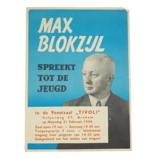 Max Blokzijl NSB Poster