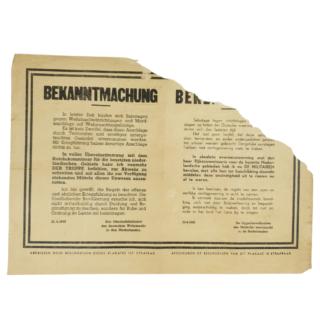 Bekanntmachung/Bekendmaking Poster
