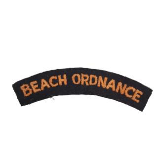 RARE WW2 Embroidered Shoulder Title – BEACH ORDNANCE