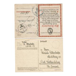 Two German Feldpost Cards